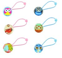 Wholesale New design girls hair bands hairbands for children owl bird gemstone hair accessories