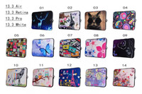 Wholesale Luxury D Handbag Case Flower Laptop Sleeve OWL Cartoon Zebra For MacBook Pro Retina White13 quot inch Notebook Computer Document Pouch Skin