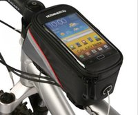 Wholesale Brand New Roswheel L Mountain Road Bike Bicycle Front Frame Phone Bag Tube Cycling Pannier Double Pouch for in Cellphone