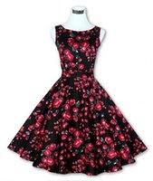 audrey hepburn costume - Audrey Hepburn Retro Vestidos Women Casual Floral Print Robe Vintage s s Style Pin Up Costume Rockabilly Dresses