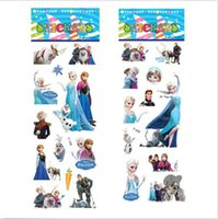 Wholesale 1x Baby Kids Frozen Cartoon Bubble Stickers Book Note Wall Decor Decal For Gift DH04