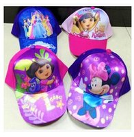 Wholesale 27 styles Star wars Sun hats mickey minnie spiderman the Avengers frozen princess hats Kids Childrens Cartoon caps Baseball capsRR701