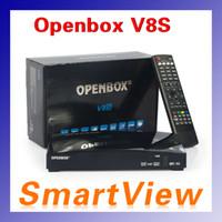 Wholesale Original Openbox V8S Digital Satellite Receiver Support WEBTV Biss Key Dual Core CPU MHz MIPS Processor Factory sale
