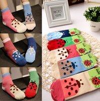 baby girl ladybug - Cartoon socks for boys girls ladybug beetle baby children s cotton socks for years kids socks Anti Slip Socks Floor Children Socks