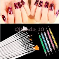 Wholesale 1000set CCA3054 High Quality set Nail Brush Nail Art Design Painting Dotting Detailing Pen Brush Bundle Tool Kit Set Nail Styling Tool