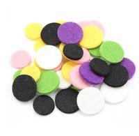 Wholesale 200Pcs Bulk Mixed Fiber Six Colors Felt Pads Two Sizes mm For mm mm Essential Oil Diffusing Perfume Locket Pendants