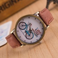 bike shop - High Quality Casual Students Watch Shops Online Retro Canvas Straps Watches On Sale New Arrival Popular Good Watches With Bike Logo