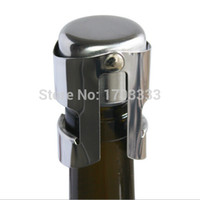 Wholesale Stainless Steel Champagne Stopper Sparkling Wine Bottle Plug Sealer TY543