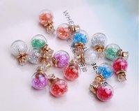 Wholesale Europe Statement Earrings Glass Bulb Hourglass Zircon Stud Earrings Rhinestone Crystal Beads Earrings Double Sided Earring women earrings