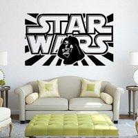decorative glass art - Children Star Wars Wall Stickers NEW cartoon Rooms Decorative Wall Decals Art Poster Wallpaper Home Decoration Posters
