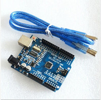 Wholesale UNO R3 Electronic Components UNO board with usb cable for Arduino Compatible DCCduino new one