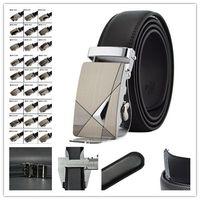 Wholesale 30 styles Fashion Genuine Leather Mens Black Alloy Automatic Buckle Waist Strap Belts d171