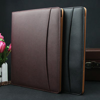 Wholesale Brand A4 leather business conference file folder manager portfolio signature agreement padfolio document organizer A