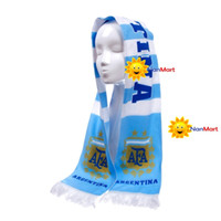 Wholesale NanMart Multicolor Brazil World Cup Scarfs Nation Team Football Soccer Scarve Argentina DIY