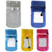 Wholesale 2014 New Quality Candy Color Waterproof Camare Case with lanyard For Sale Brand Camare Protective Cases With Low Price