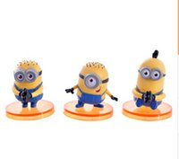Wholesale 6piece set Despicable me god steal milk dad mini yellow Animation model hand office furnishing articles