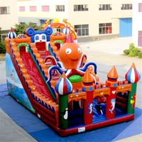 beautiful backyards - AOQI Inflatable Octopus castle slide beautiful slide crazy inflatable slide for children made in professional manufacturer AOQI