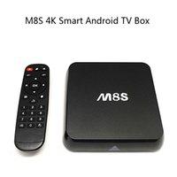 Wholesale 2015 M8S K Rooted KODI v15 H Smart Android TV Box Amlogic S812 Quad Core GB RAM GB ROM IPTV Stream Sports Programs Fully Loaded