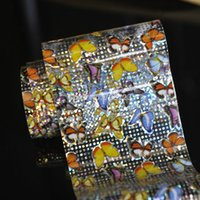 aluminum foil crafts - Colorful butterfly Beauty Nail aluminum foil stickers nail stickers crafts template GL06
