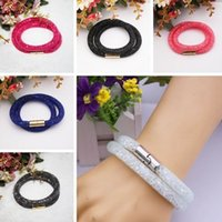 Wholesale 10pcs Mesh Magnetic Resin Material Stardust Bangle Bracelet Swarovski Elements
