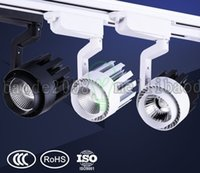 Wholesale COB LED track lights W W W For clothing store setting wall exhibition hall COB track light v v colors Shell LLWA042