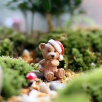 bear garden statues - Bonsai Ornament Bear Christmas Party Garden Miniature Figurine Statue DIY Craft Fairy Dollhouse Decor Fairy Gnome Terrarium