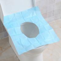toilet paper - 10pcs Disposable Paper Toilet Seat Cover Camping Festival Travel Convenient Hygienic Toilet Mat Pad Cushion JI0072 Salebags
