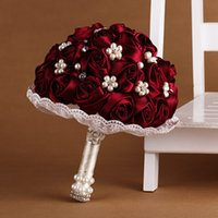 Wholesale Wedding bride holding flower bouquet bridesmaid can throw Chinese style handmade wedding photography love