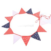 Wholesale Fabric Banners Personality Wedding Bunting Decor Vintage Party Birthday Baby Show Garland Decoration