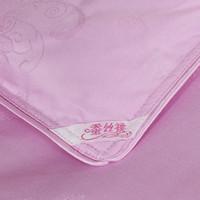 Edredones de seda pura Baratos-Venta al por mayor de alta calidad! trabajo hecho a mano posicionamiento diagonal de 1,5 kg edredón de seda pura de seda rosa de invierno 180x220cm edredón