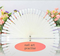 Wholesale 50 nail practise finger nail art tips polish display practice tool skill training for design sample