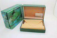 Wholesale Luxury Watch Box Green ROLEX Watch Box Inner Outer Original Watches Boxes Men Watch Boxes for Rolex