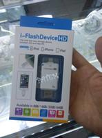 Wholesale i FlashDrive HD G G G Mobile Phone Extended Memory Card USB i FlashDrive Flash Drive Memory Card Reader for iPhone iPad iPod PA