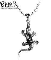alligator necklace - BEIER fashion animal pendants titanium steel jewelry new style men s alligator pendant BP8