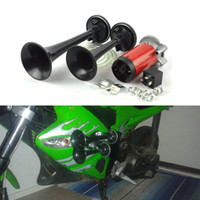 Wholesale Car Motorcycle Styling Universal Black Ultra Sound Electric Air Horn With Relay Siren horn Auto accessories V