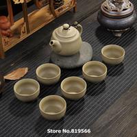 Wholesale Ge Porcelain Tea Set Crackle Glaze Tea Cup ml Teapot ml Novetly Items Personal Office Use Christmas Gifts