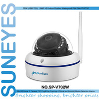 indoor mini dome ip camera - SunEyes SP V702W HD Mini Dome IP Camera Outdoor Wireless Wifi Weatherproof ONVIF and RTSP with Free P2P Metal Alloy Case