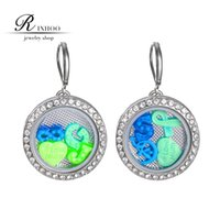 Wholesale pairs Noosa Snap Button Charm earrings glowing in the dark DIY replaceable Charms women jewelry accessories for alloy button