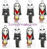 Wholesale 100 zinc alloy metal The Nightmare Before Christmas Boy Kid charms metal enamel pendant