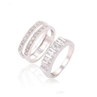 Wholesale Rhodium Plated Love s Couple Rings For Women Valentine Day Jewelry Ring Xuping Environmental Copper Inlay White Zircon