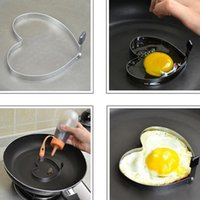 Wholesale Min mix Order New Arrival Cook Fried Egg Pancake Stainless Steel Heart Shaper Mould Mold Kitchen Tool Rings XB206