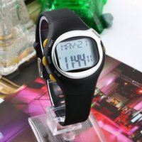best touch monitors - 1pcs Hot Black Pulse Heart Rate Monitor Calorie Counter Stop Watch Calorie Counter Exercise Touch Sensor in Best Selling