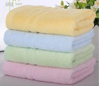 Wholesale bamboo fiber towels beauty towel size cm colors optional