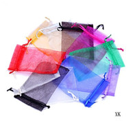 Wholesale 10x15 cm Multicolor transparent gift organza bags