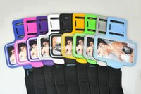 Wholesale Cell Phone Cases Waterproof Sports Running Armband Case for Apple Iphone c Plus Samsung Galaxy S3 S4 SIIII S IV I9500 DHL