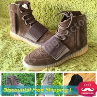 brand sport shoes - Brand New Mens Shoes Kanye West Yeezy Boost Athletic Boots Ankle Boots Basketball Shoes With Shoes Box Sports Boot