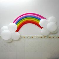 balloon decorations diy - Set DIY Creative handmade rainbow room balloons Christmas and wedding party decoration Rainbow