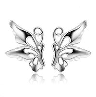 Wholesale A good jewelry earrings sterling silver earrings Hoop earrings angel wings Elf female ring spot