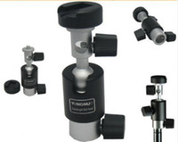 swivel ball mount - degrees Swivel Flash Mount Bracket Shoe Umbrella Holder Ball Head for Light Stand