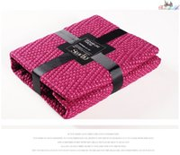 Wholesale sofa bed Blanket bed Knitted Plaid Dyed Home duvet cover Comfortable Soft Blankets